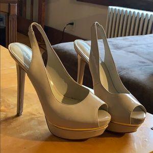 Aldo Crea platform peeptoe slingback heels size 7